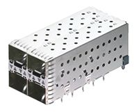 TE Connectivity 2007637 Series 2 x 2 Port Right Angle SFP+ Cage, Press-Fit Termination