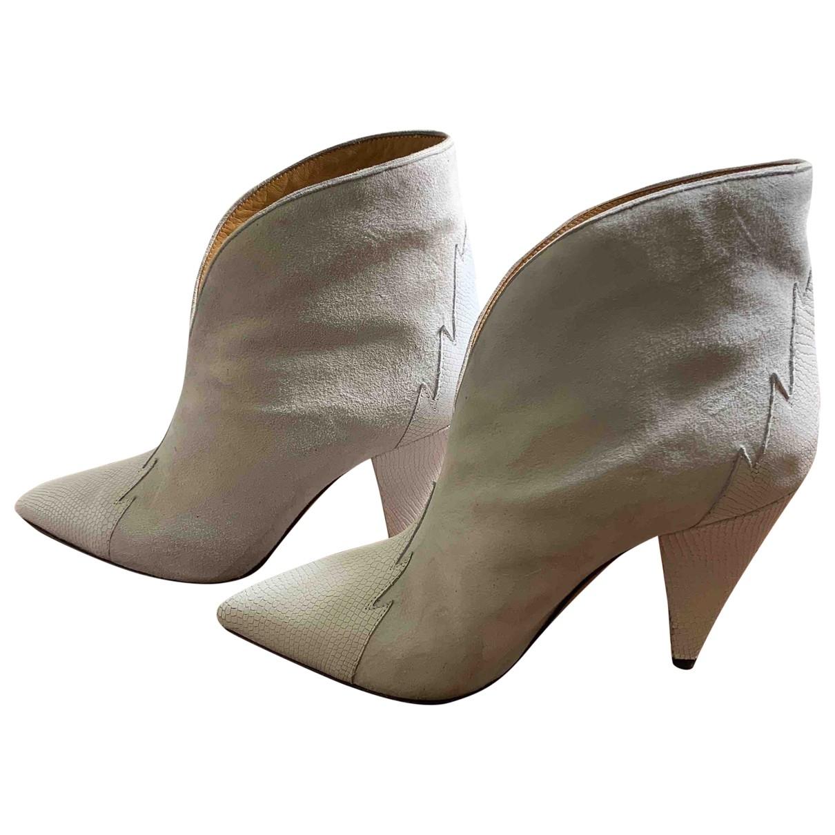 Isabel Marant - Boots   pour femme en suede - blanc