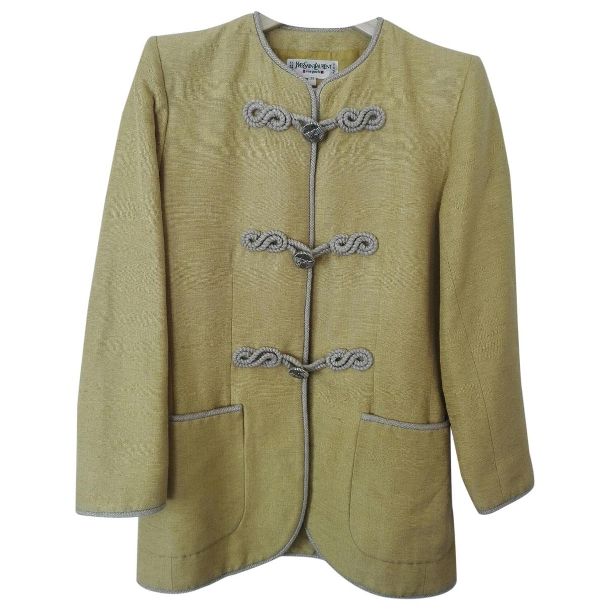 Yves Saint Laurent \N Kleid in  Gelb Seide