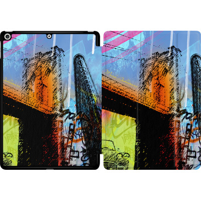 Apple iPad 9.7 (2018) Tablet Smart Case - Pop Brooklyn Bridge von Mark Ashkenazi