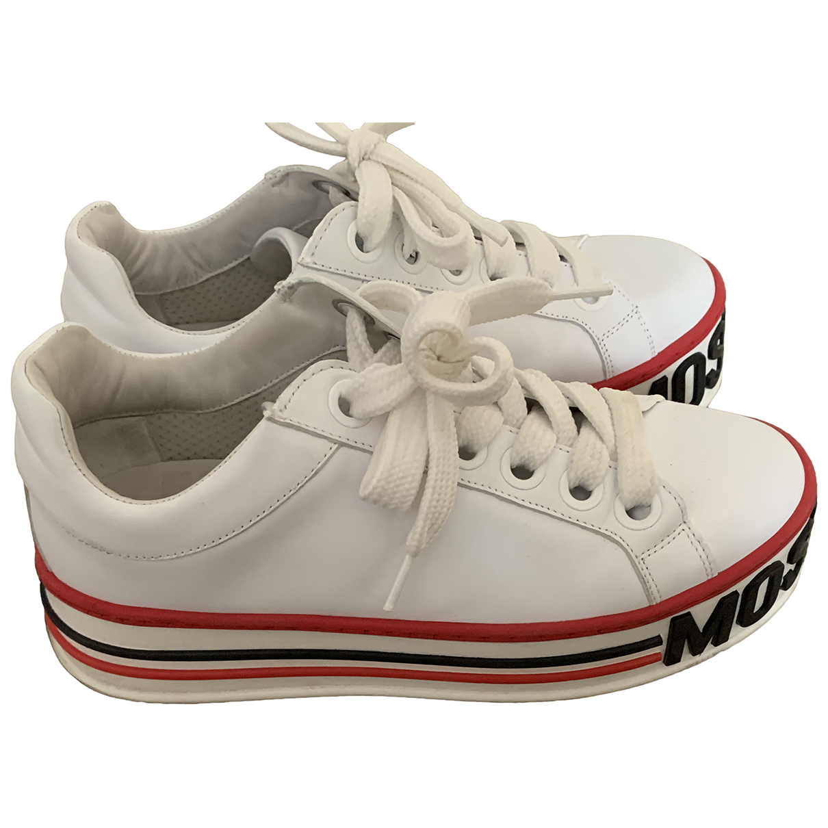 Moschino \N White Leather Trainers for Women 40 EU