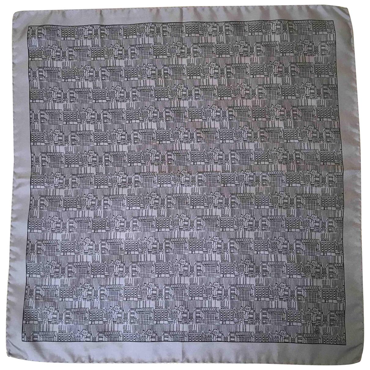 Alfred Dunhill - Cheches.Echarpes   pour homme en soie - gris