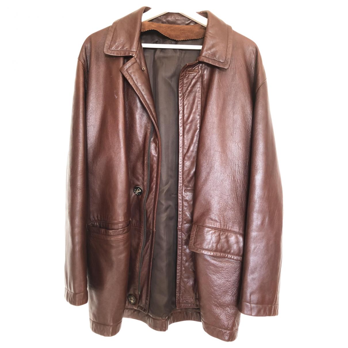 Loewe \N Brown Leather jacket  for Men 48 FR