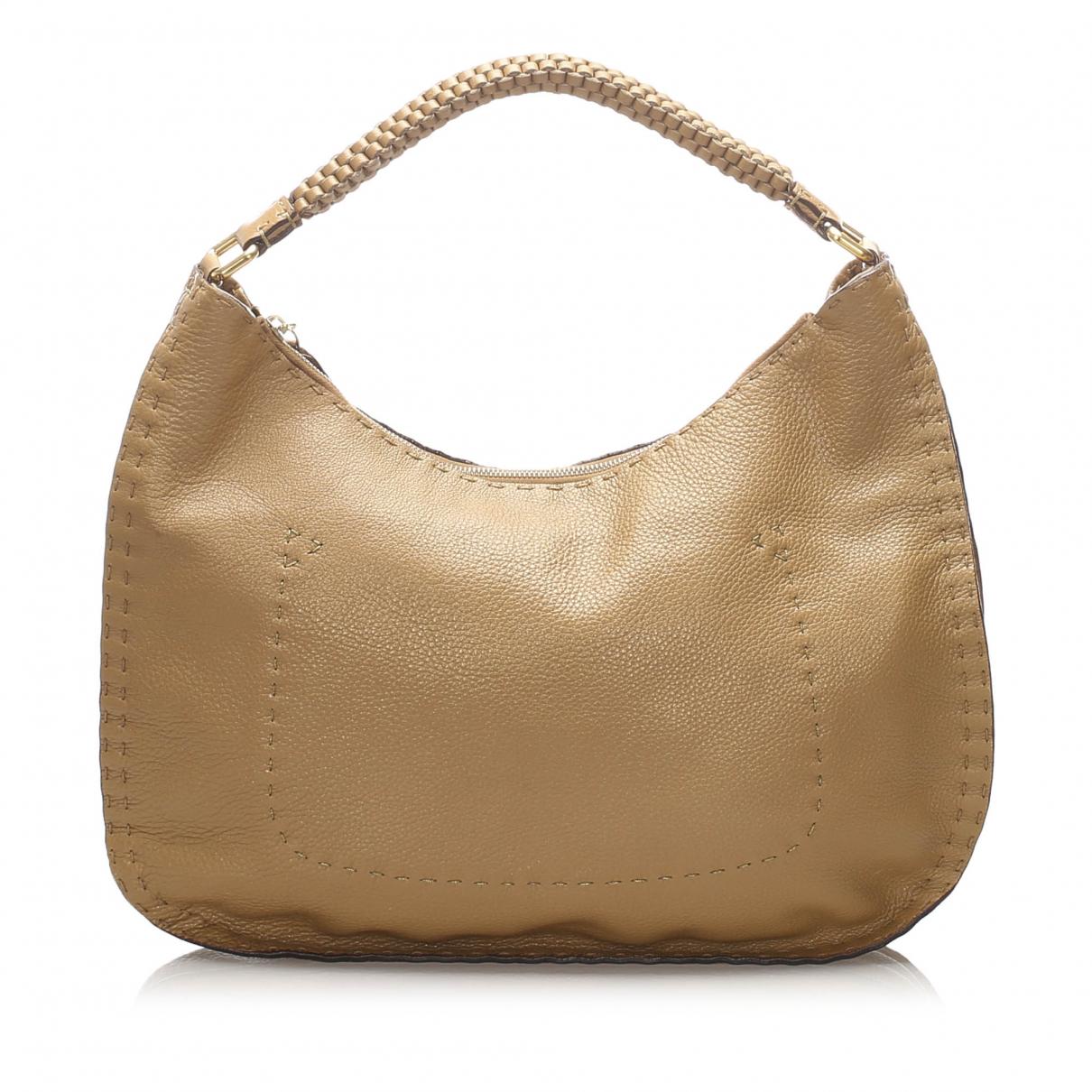 Fendi \N Handtasche in  Braun Leder