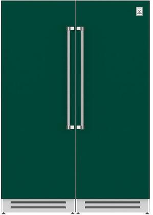 60 Side-by-Side Column Refrigerator & Freezer Set with KFCL30GR 30 Left Hinge Freezer and KRCR30GR 30 Right Hinge Refrigerator in