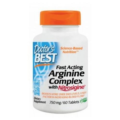Fast Acting Arginine Complex with Nitrosigine 60 Tabs by Doctors Best