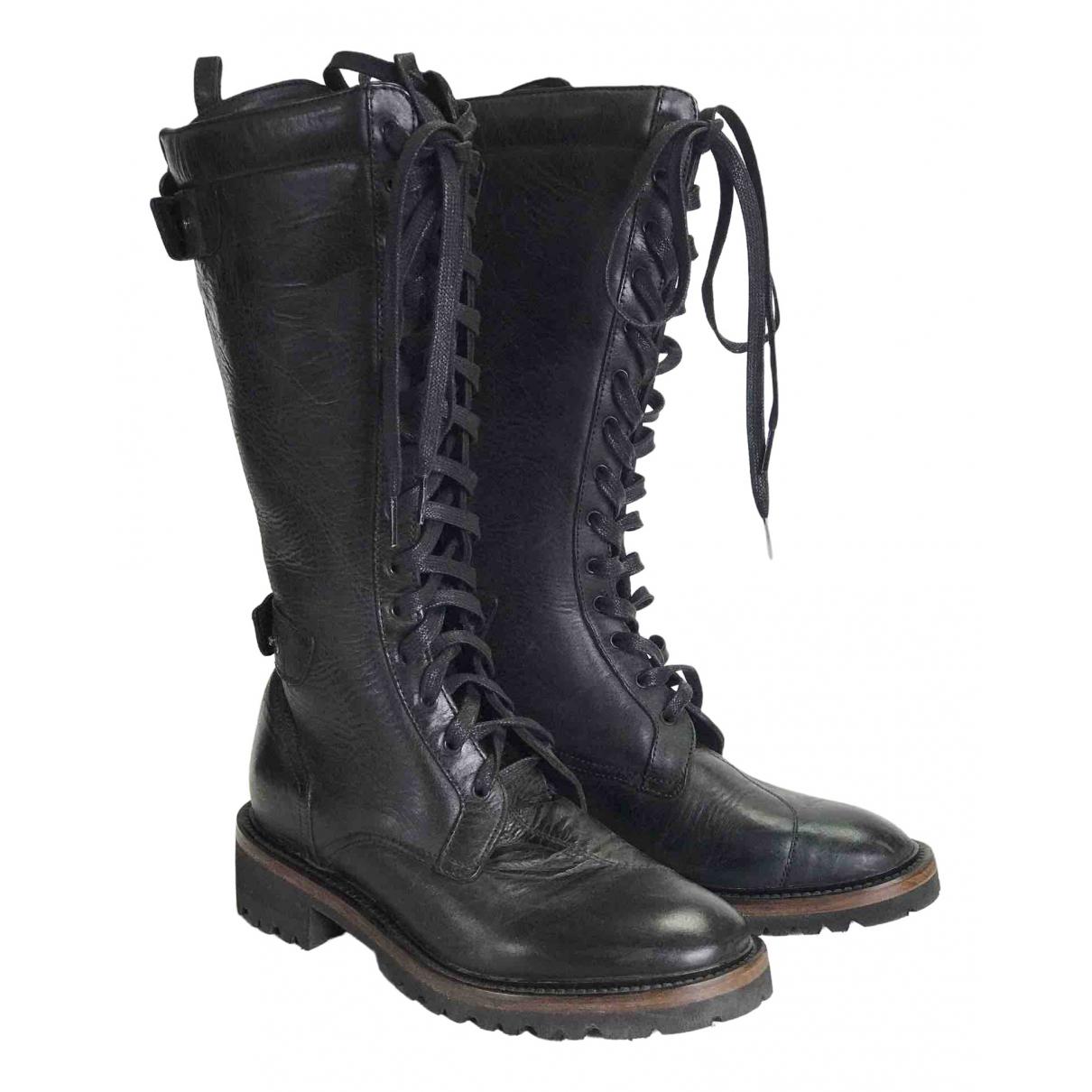 Matchless \N Stiefel in  Schwarz Leder