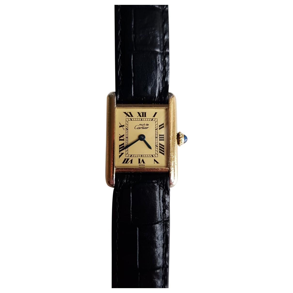 Cartier Tank Must Uhr in  Beige Vermeil