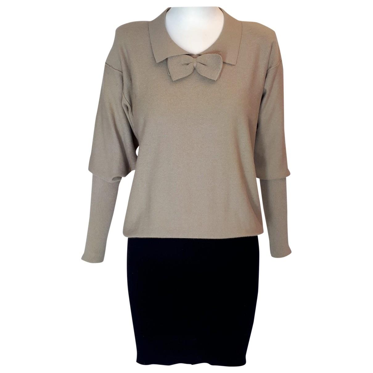 Sonia Rykiel \N Kleid in  Beige Wolle