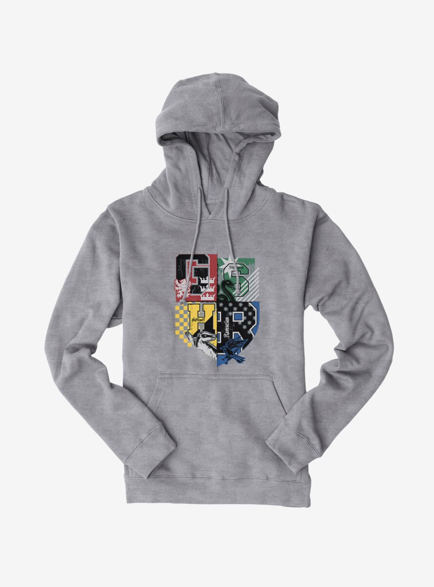 Harry Potter House Colors Shield Hoodie