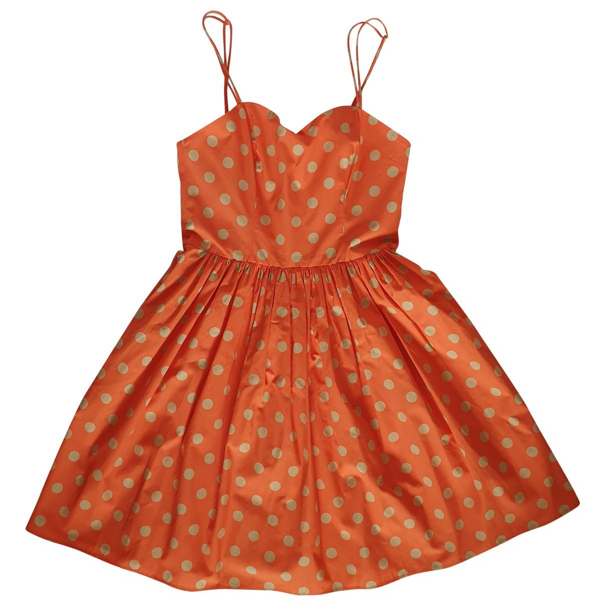 Jeremy Scott \N Kleid in  Orange Baumwolle