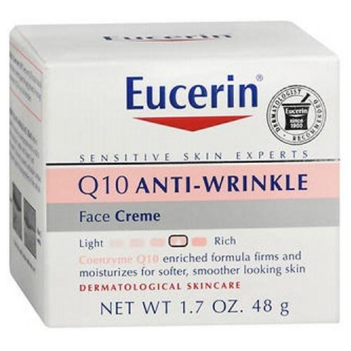 Eucerin Q10 Anti-Wrinkle Sensitive Skin Creme 1.7 oz by Eucerin