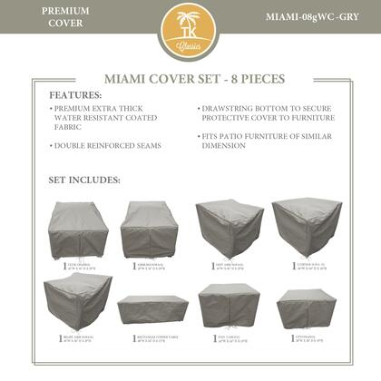 Miami MIAMI-08gWC-GRY MIAMI-08g Protective Cover Set in