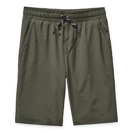 Arizona Little & Big Boys Adjustable Waist Hybrid Short, X-small (6-7) , Green