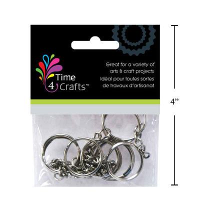 Anneau rond plat fendu avec la chaîne pour l'organisation de clés de voiture à la maison, 25mm