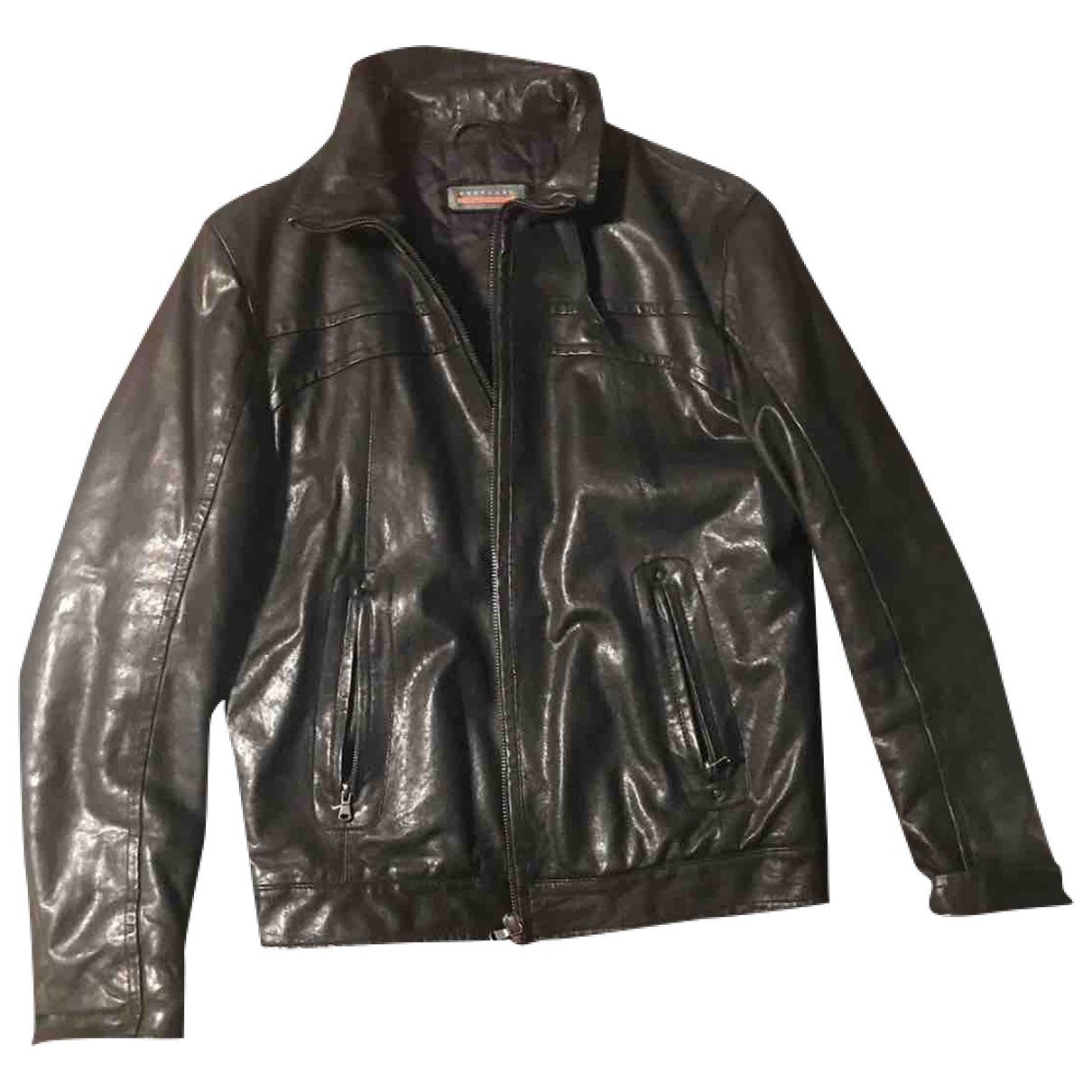 Non Signé / Unsigned \N Black Leather jacket  for Men 50 FR