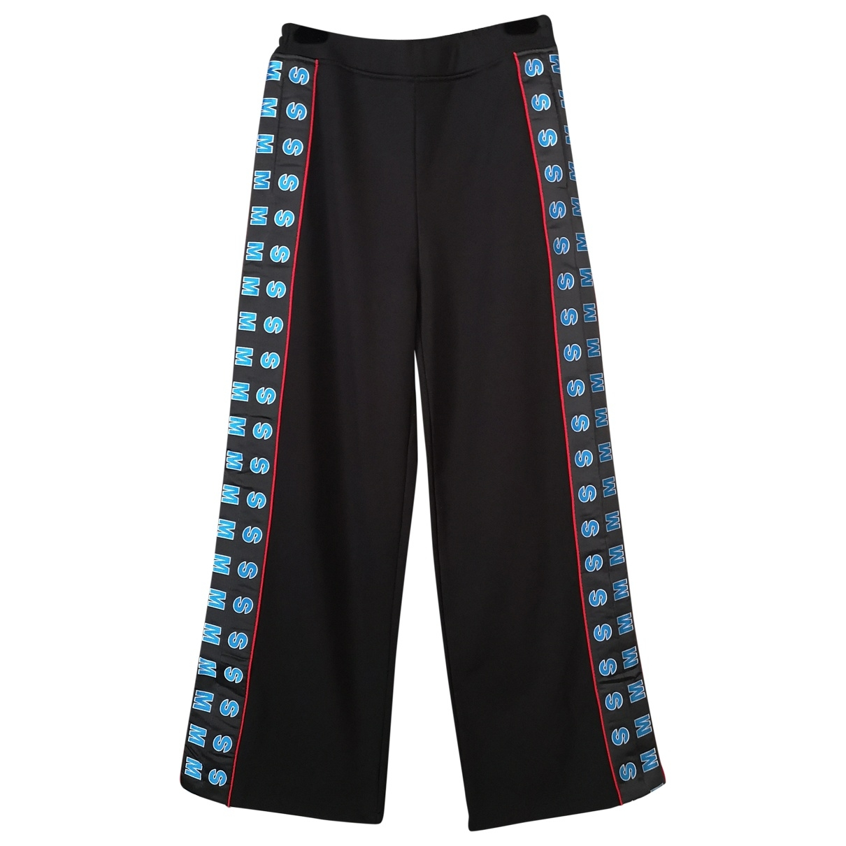 Stella Mccartney \N Black Cotton Trousers for Women 40 IT