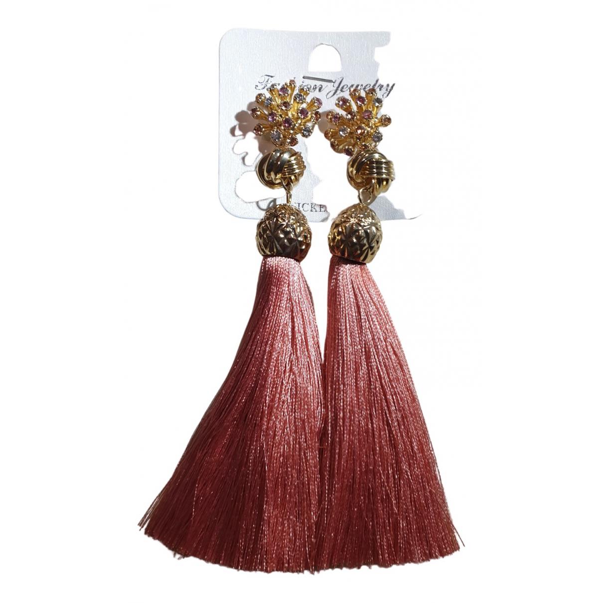 - Boucles doreilles   pour femme en metal - rose