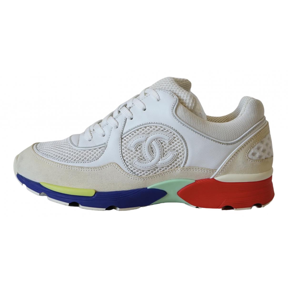 Chanel \N Sneakers in  Bunt Leinen