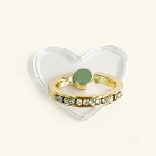 1 pieza soporte de anillo de celular de corazon
