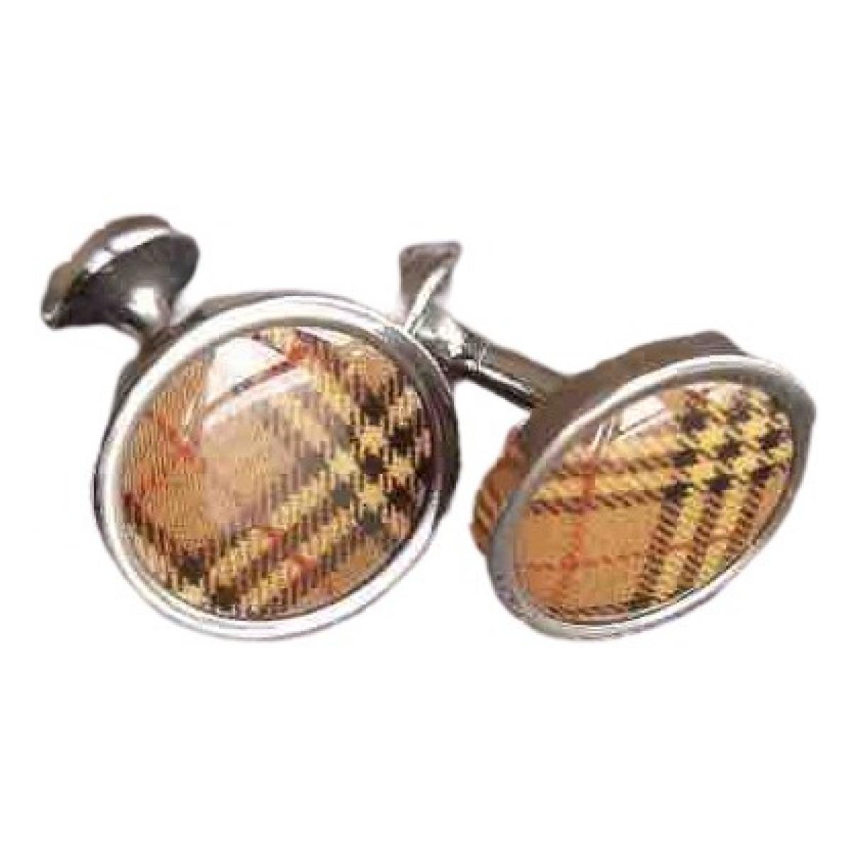 Burberry \N Brown Silver Cufflinks for Men \N