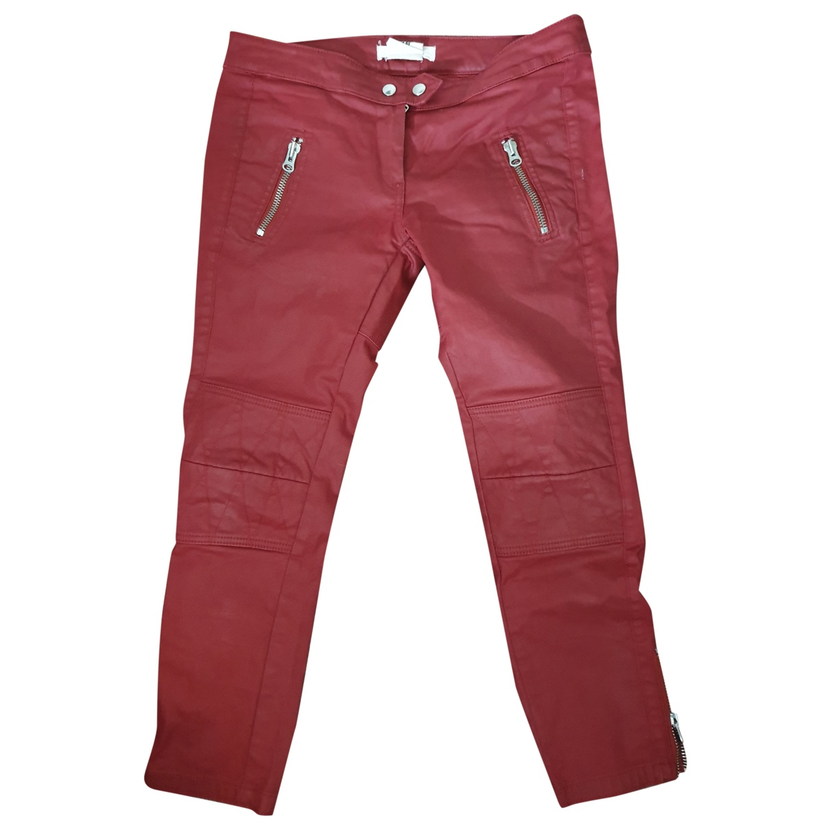 Isabel Marant Pour H&m \N Red Cotton Trousers for Women 38 FR