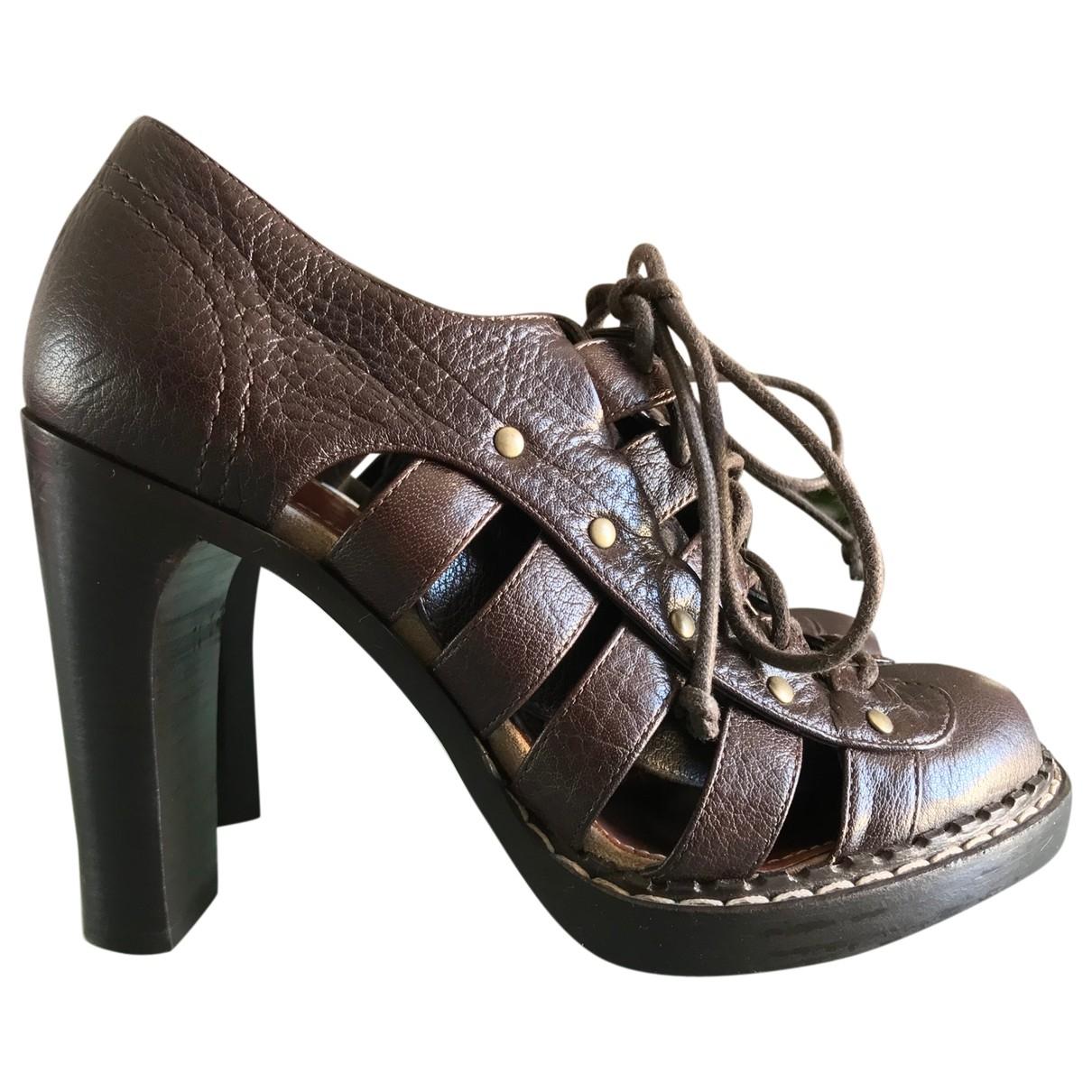 Proenza Schouler - Escarpins   pour femme en cuir - marron