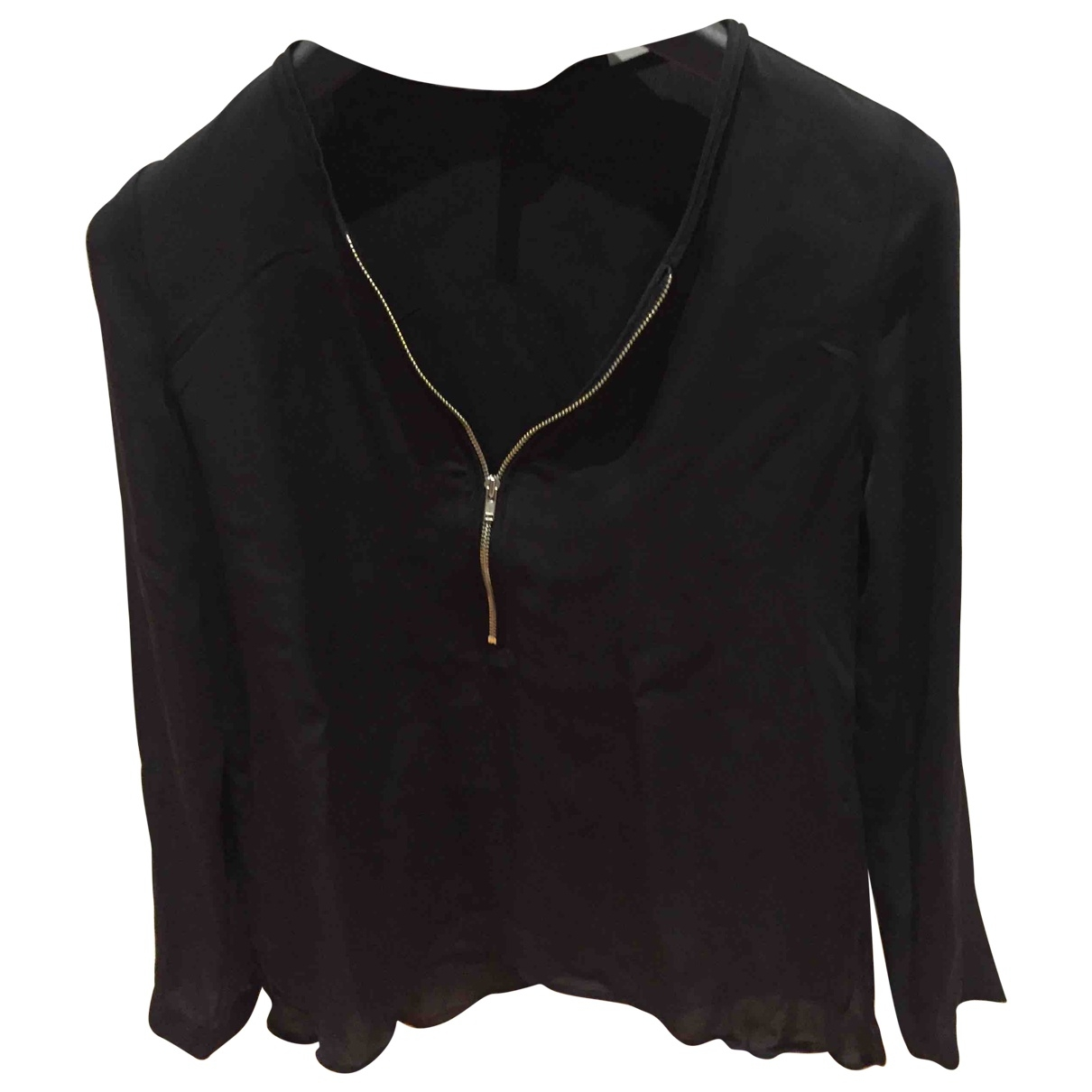 The Kooples \N Black Silk  top for Women S International