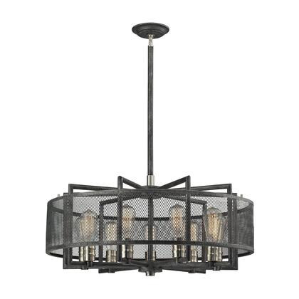 31239/9 Slatington 9 Light Chandelier in Silvered Graphite/Brushed