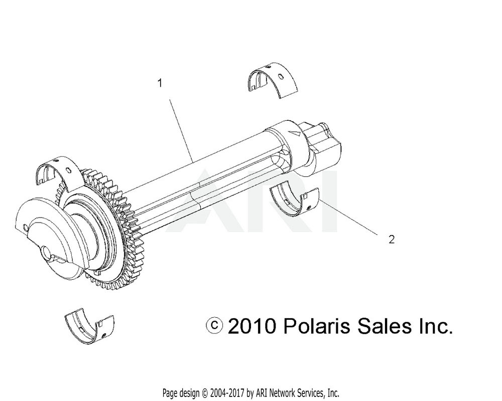 Polaris OEM 3514673-001 Bearing, Balance Shaft, White