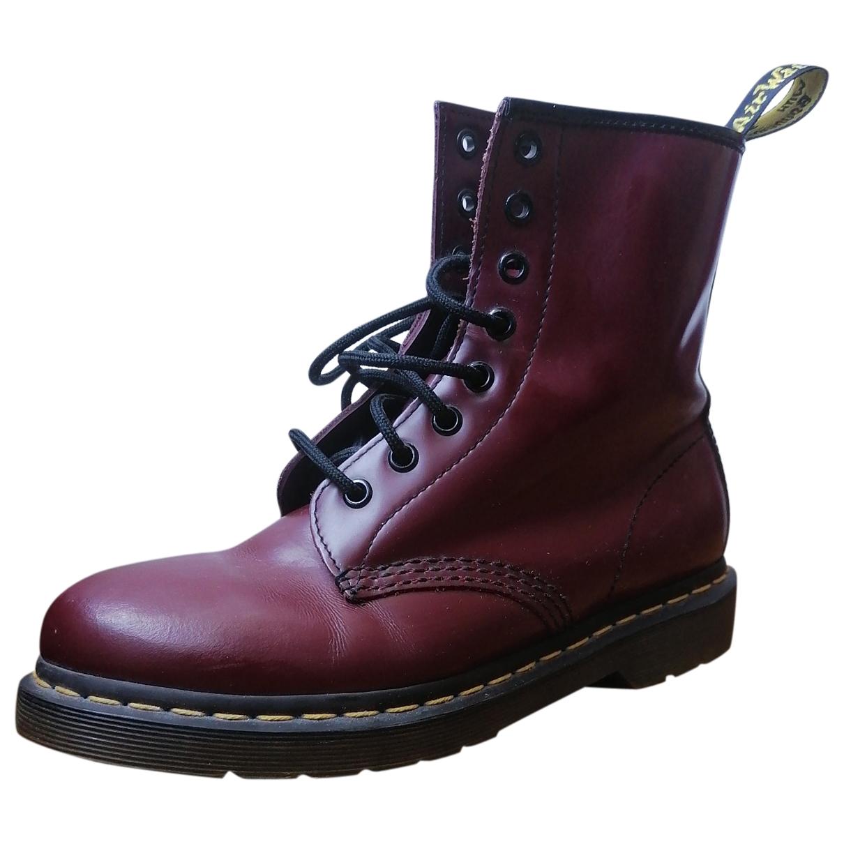 Dr. Martens - Boots 1460 Pascal (8 eye) pour femme en cuir - bordeaux