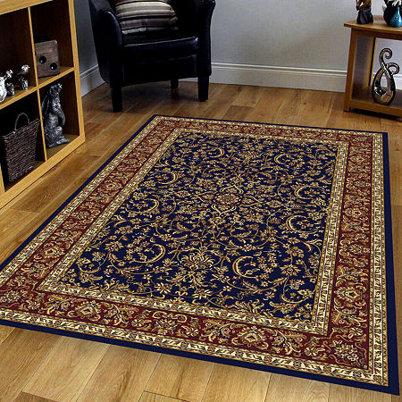 Noble Classic Traditional Oriental Area Rug, One Size , Blue