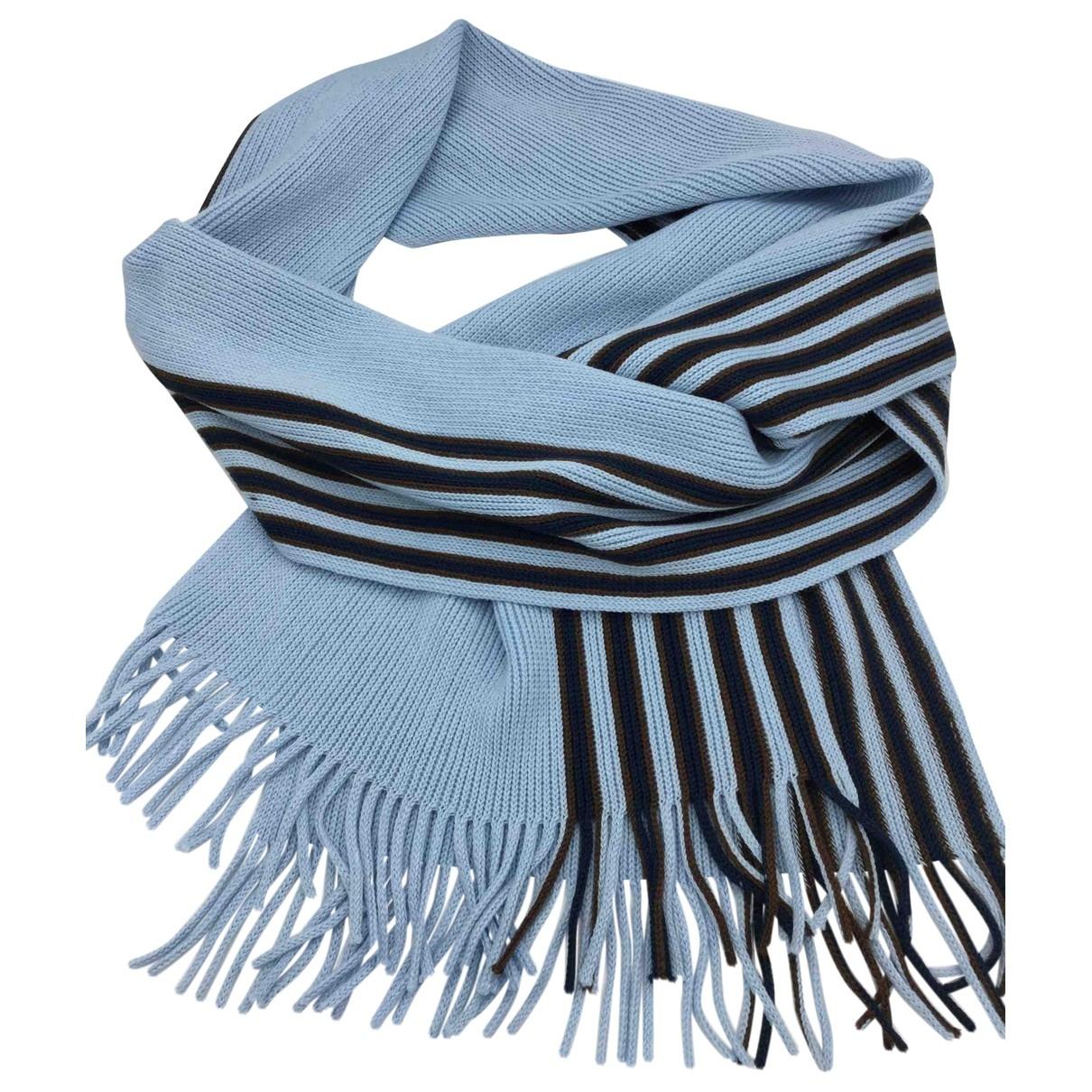 Borsalino \N Tuecher, Schal in  Blau Wolle