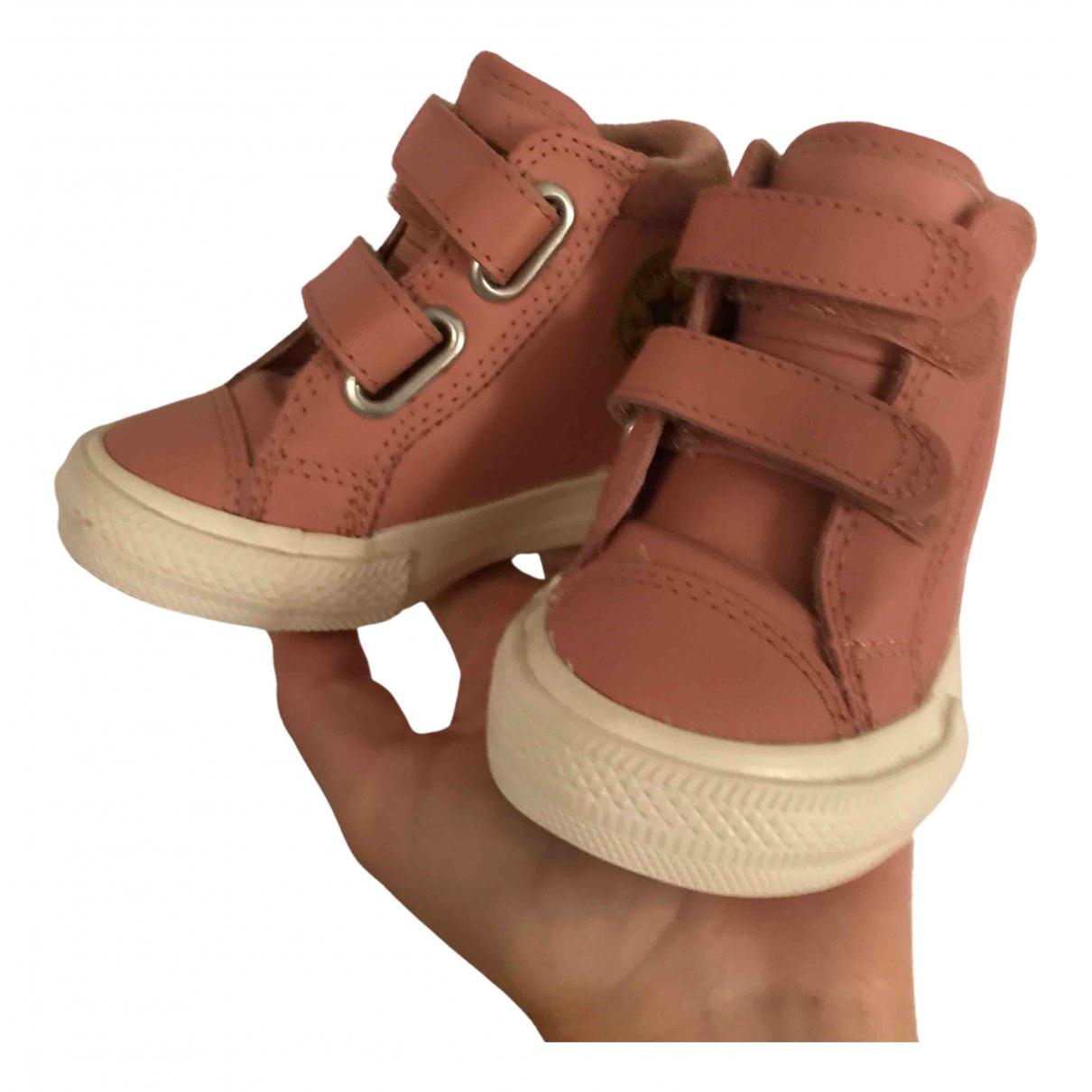 Converse - Baskets   pour enfant en cuir - rose