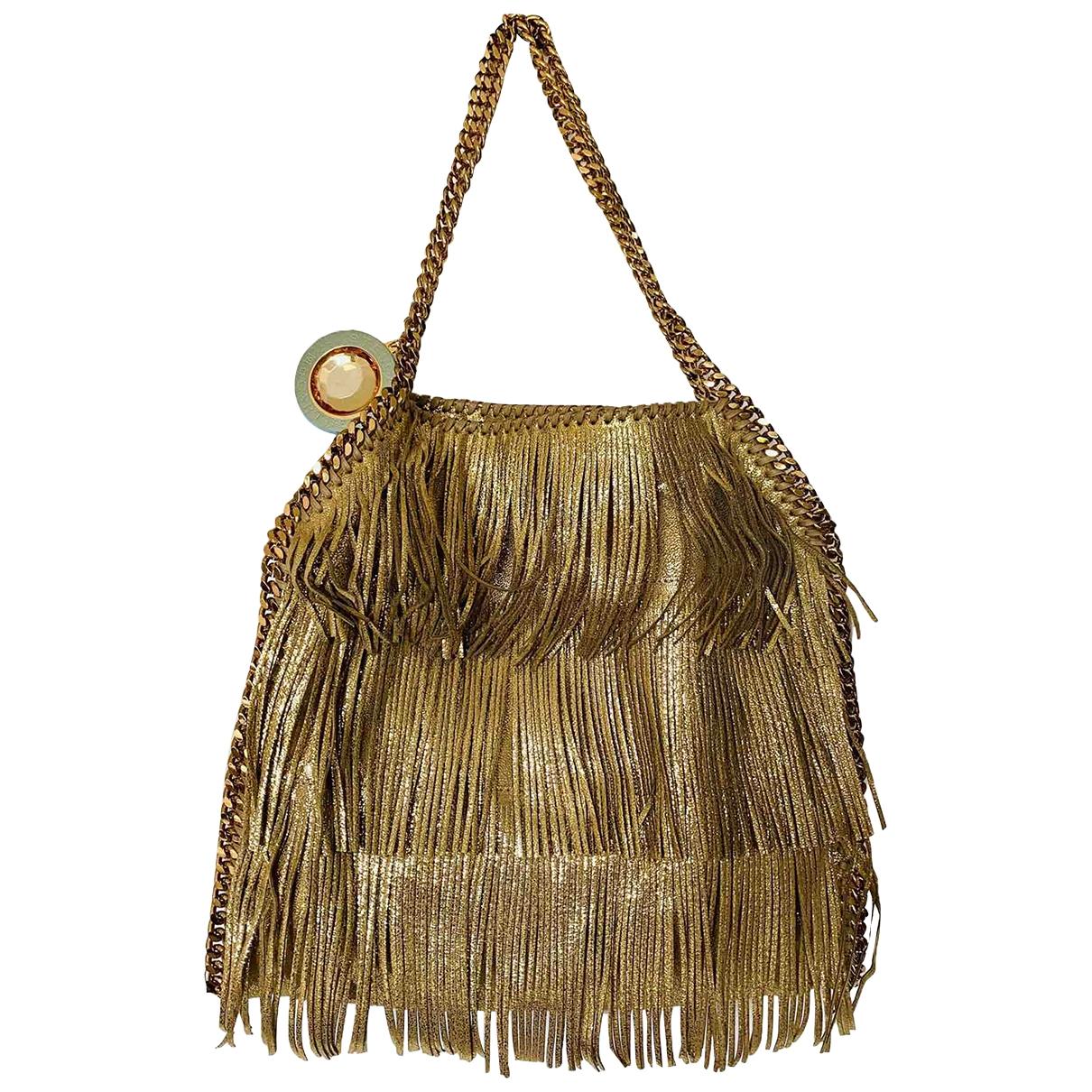 Stella Mccartney Falabella Handtasche in  Gold Leinen