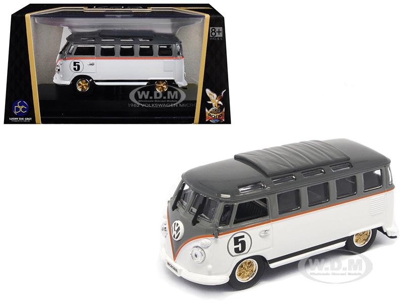 1962 Volkswagen Microbus 5 Van Bus White 1/43 Diecast Model by Road Signature