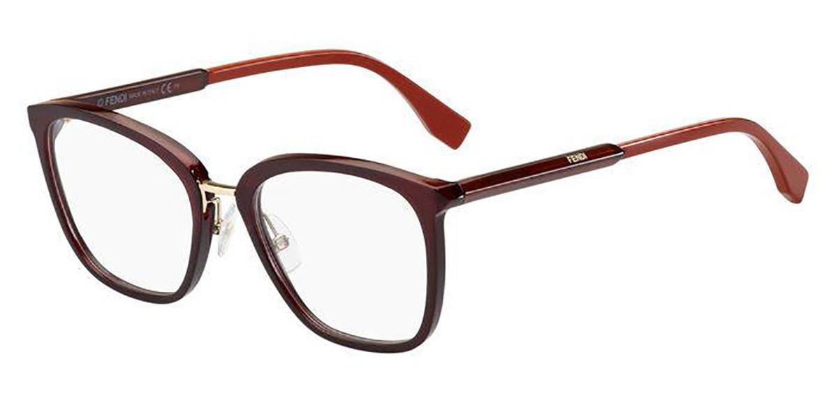 Fendi FF 0455/G LHF Women's Glasses Burgundy Size 53 - Free Lenses - HSA/FSA Insurance - Blue Light Block Available