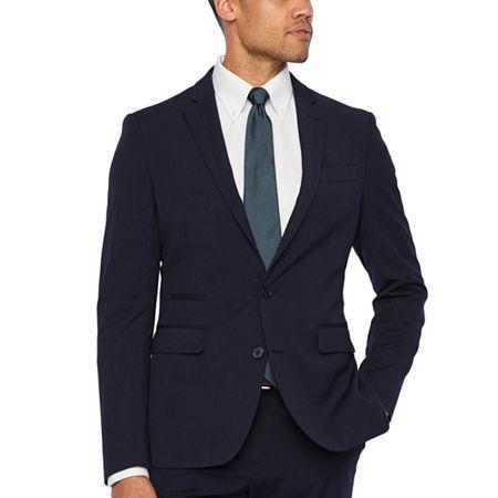 JF J.Ferrar 360 Stretch Slim Fit Suit Jacket, 36 Short, Blue