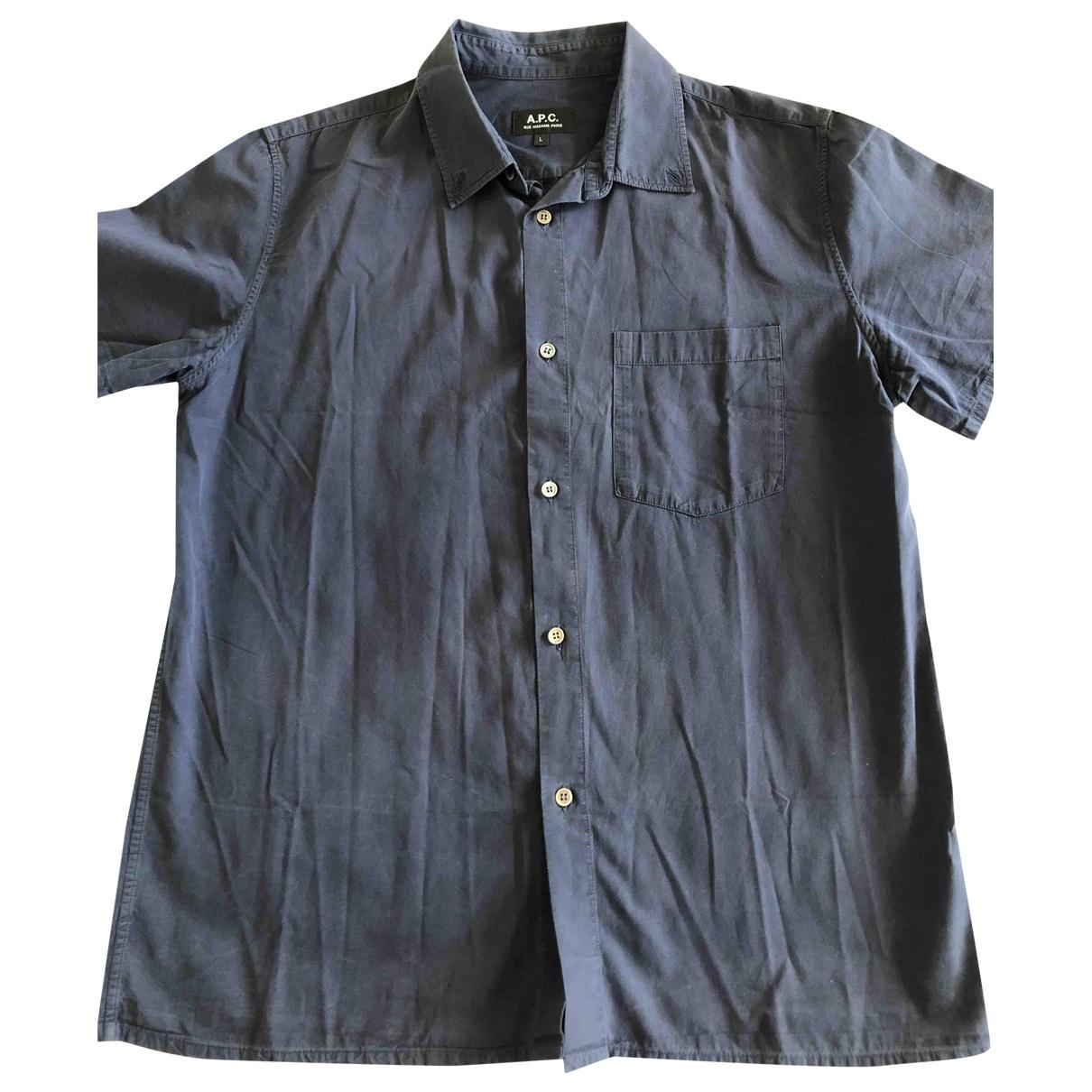 Apc - Chemises   pour homme en coton - marine