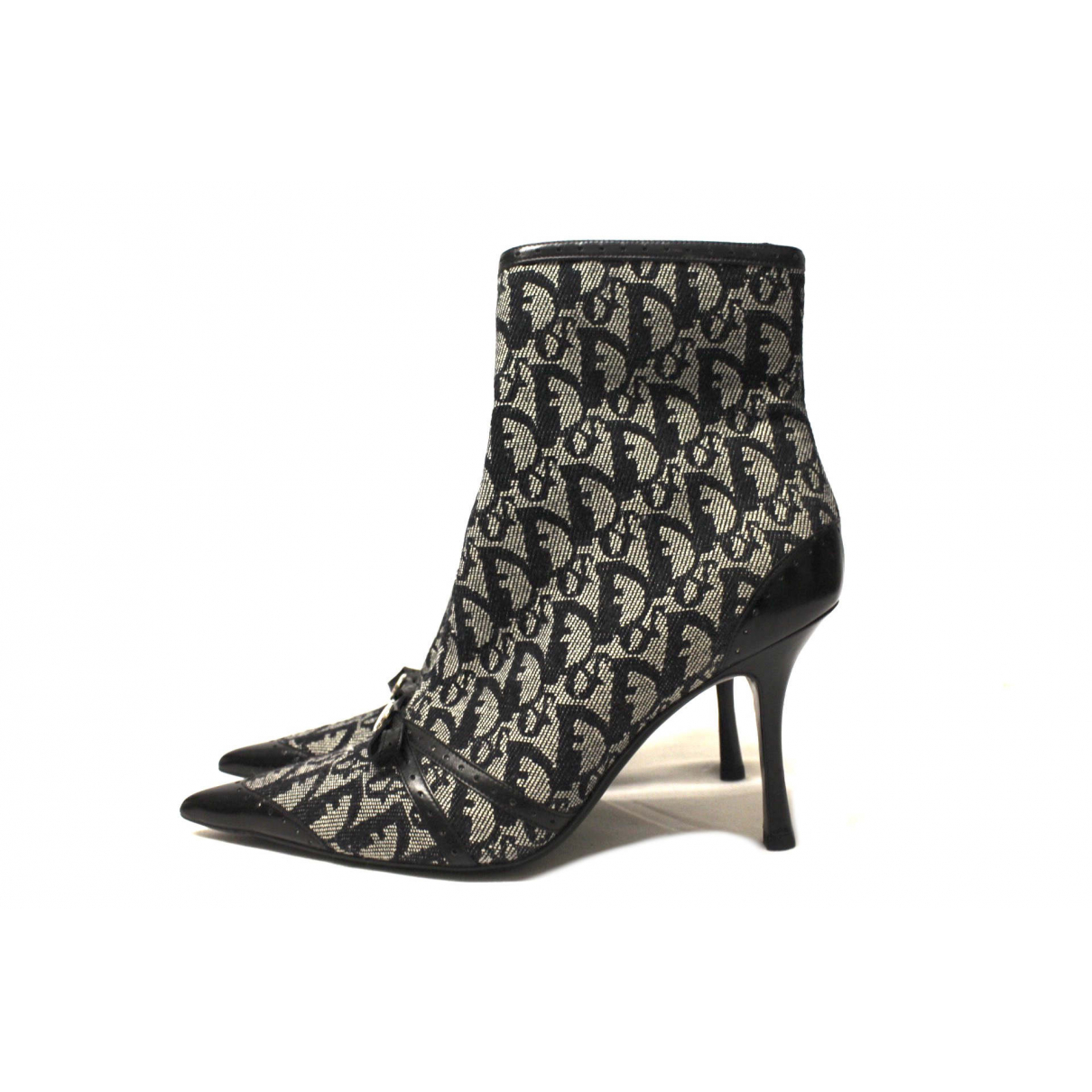 Dior \N Black Cloth Ankle boots for Women 39.5 IT