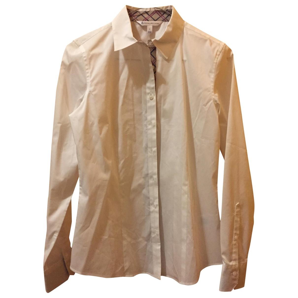 Brooks Brothers - Top   pour femme en coton - blanc