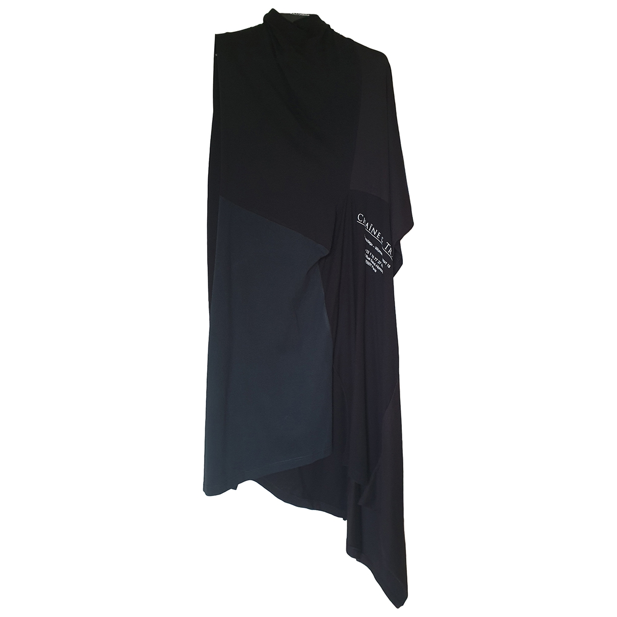 Balenciaga \N Kleid in  Schwarz Baumwolle