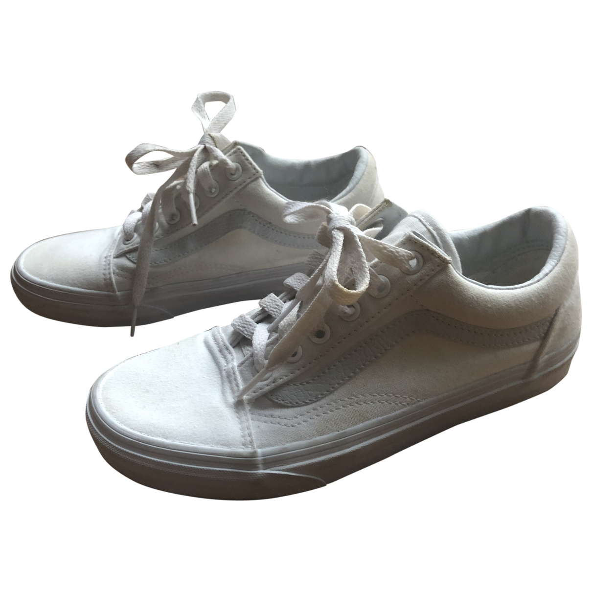 Vans \N Sneakers in  Weiss Leinen