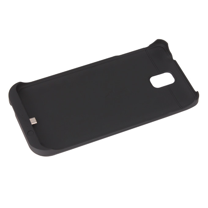 Portable USB External Rechargeable Backup Battery Case For Samsung Galaxy NOTE 3 Smartphone 3800mAh - Black