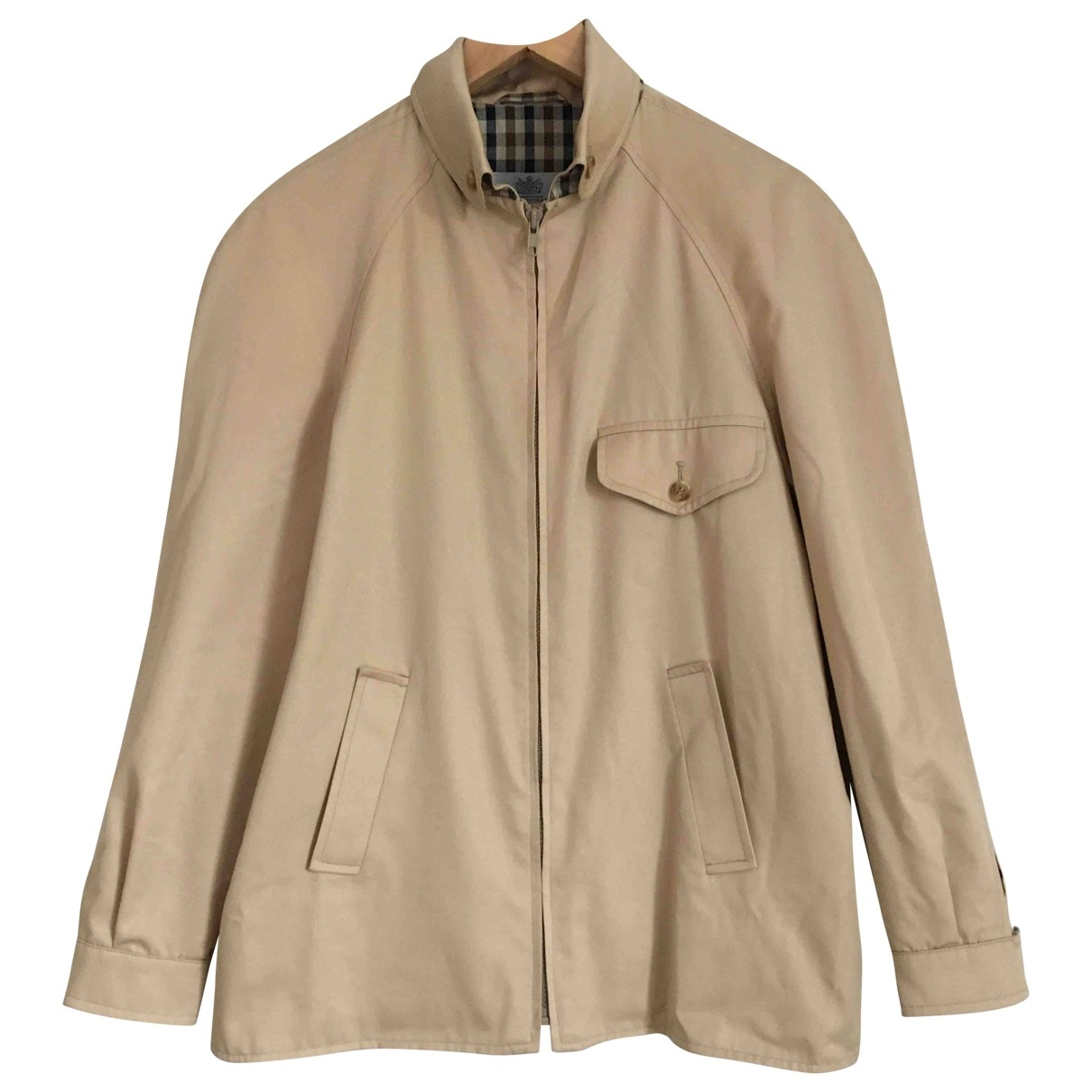 Aquascutum \N Beige Cotton jacket for Women 14 UK