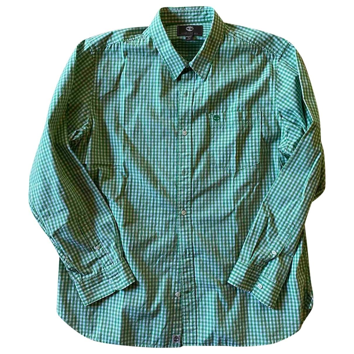 Timberland \N Green Cotton Shirts for Men XXL International