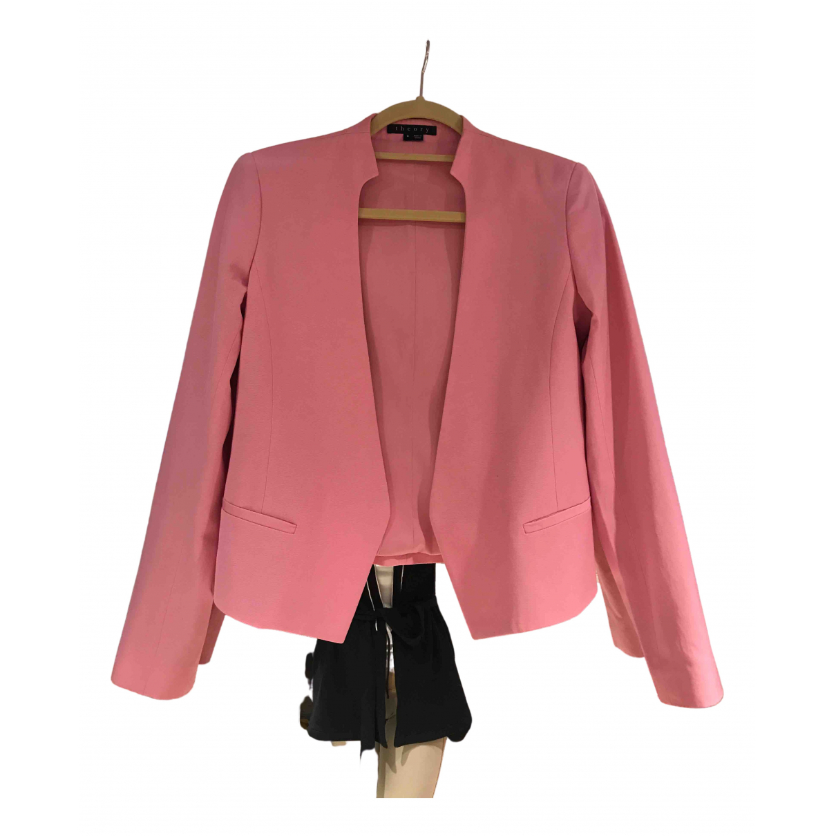 Theory - Veste   pour femme en coton - rose