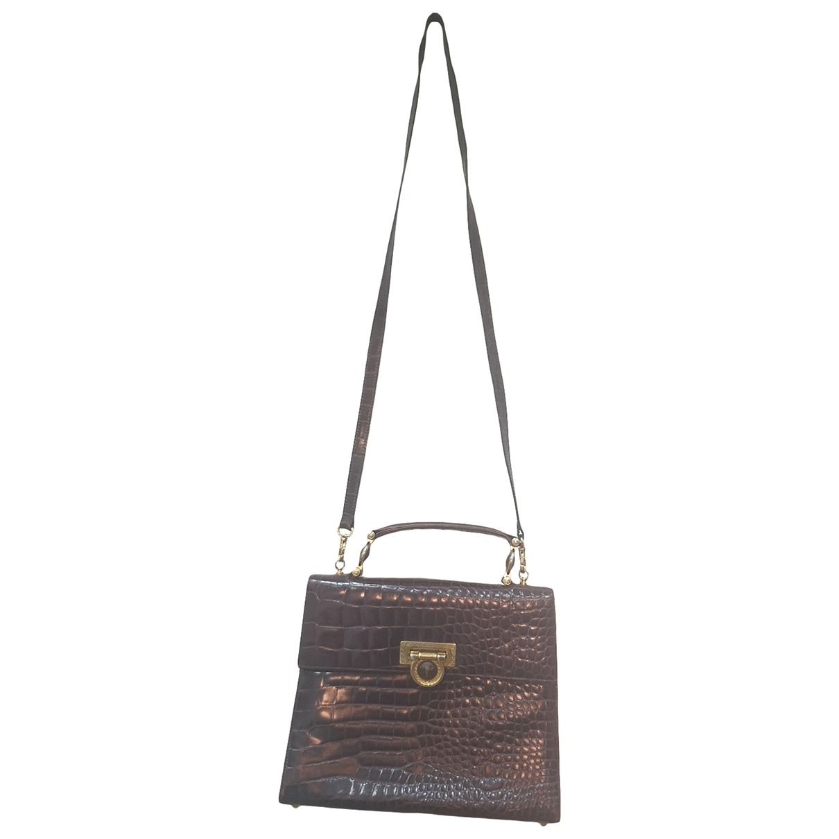 Gianni Versace \N Handtasche in  Braun Leder