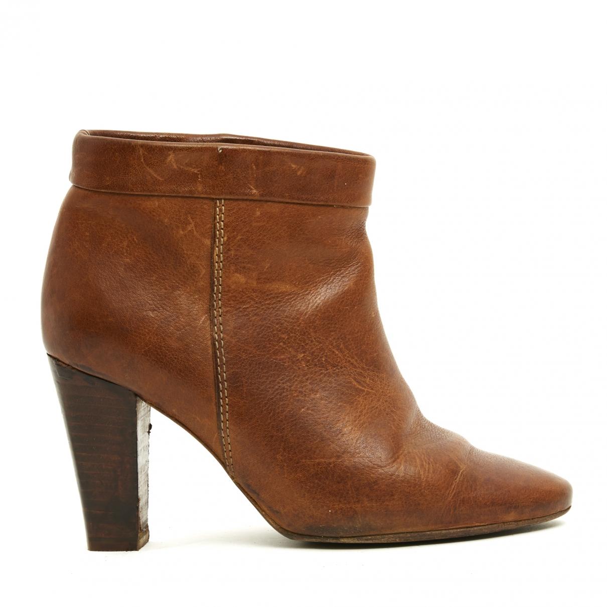 Isabel Marant Etoile - Boots   pour femme en cuir - camel