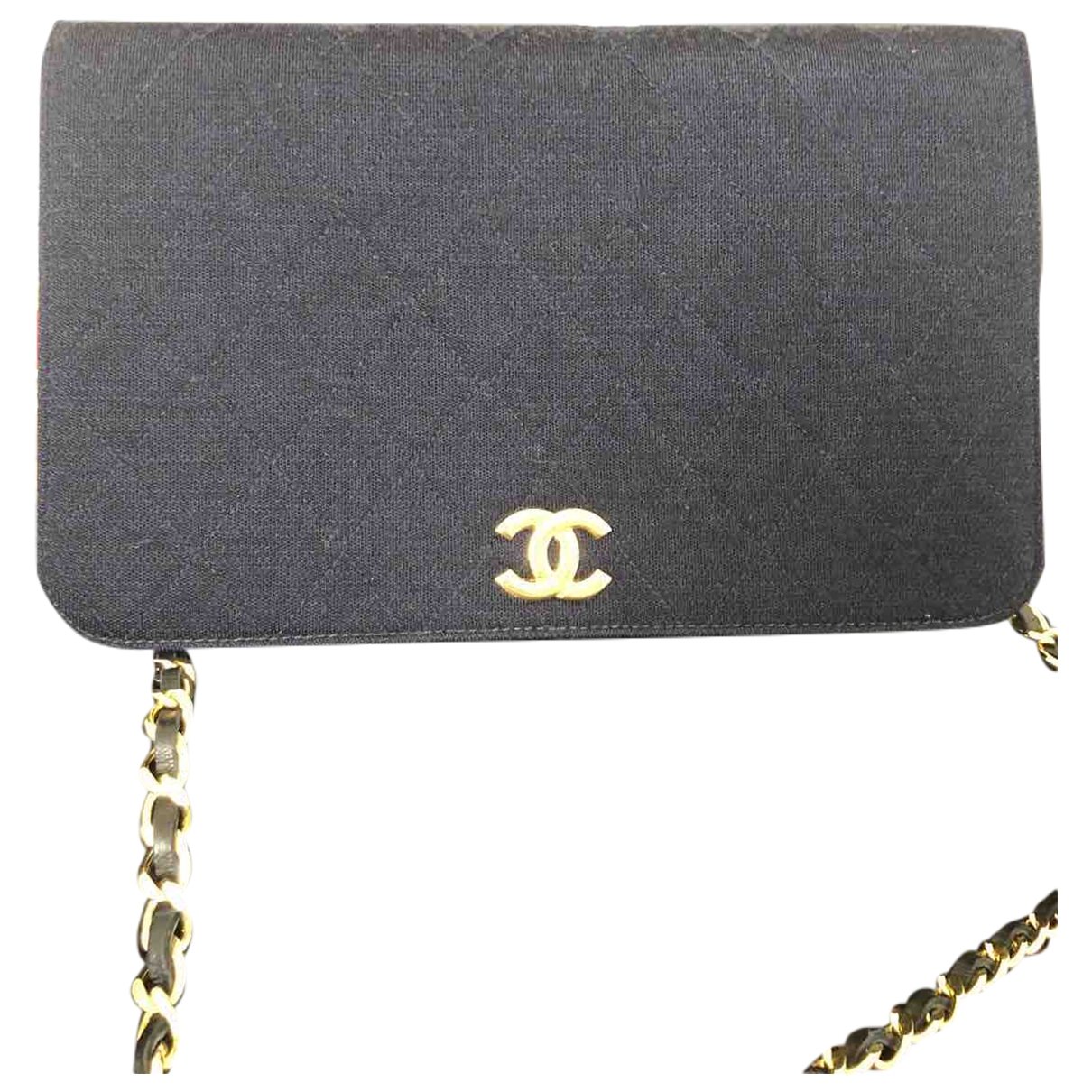 Chanel Wallet on Chain Navy Cotton handbag for Women \N